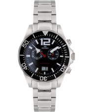 Rotary AGB90050-C-04 Mens Aquaspeed Black Silver Chronograph Watch