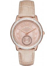 Michael Kors MK2448 Ladies Madelyn Rose Tone Leather Strap Watch