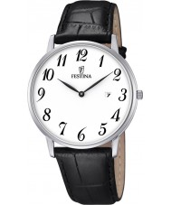 Festina F6831-1 Mens Classic Black Leather Strap Watch