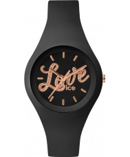 Ice-Watch LO.BK.GL.S.S.16 Ladies Ice-Love Small Black Silicone Strap Watch