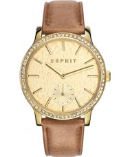 Esprit ES108112002 Ladies TP10811 Brown Leather Strap Watch