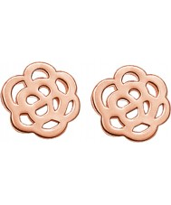 Thomas Sabo H1783-415-12 Ladies 18k Rose Gold Plated Cut-out Flower Stud Earrings