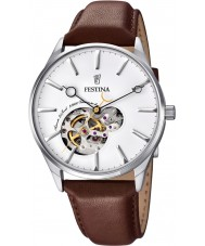 Festina F6846-1 Mens Automatic Brown Leather Strap Watch