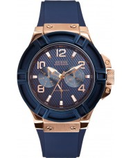 Guess W0247G3 Mens Rigor Blue Silicone Strap Watch
