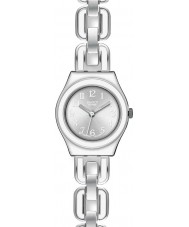 Swatch YSS254G Irony Lady White Chain Watch