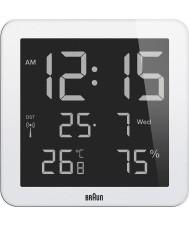 Braun BNC014WH-RC Global Radio Controlled Wall Clock - White
