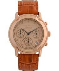 Krug-Baumen 150575DM Principle Diamond Mens Rose Gold Chronograph Watch