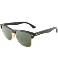 RayBan RB4175 57 Clubmaster Oversized Demi Shiny Black-Gold 877 Sunglasses