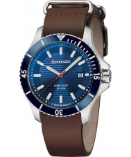 Wenger 01-0641-121 Mens Seaforce Brown Leather Strap Watch