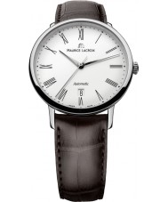 Maurice Lacroix LC6067-SS001-110 Mens Les Classiques Tradition Automatic White, Steel and Brown Watch