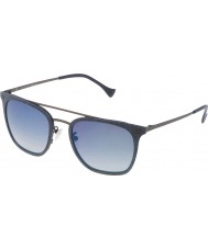 Police Mens Impact 1 SPL152-AG2B Blue Mirrored Sunglasses