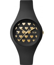 Ice-Watch LO.BK.HE.S.S.16 Ladies Ice-Love Small Black Silicone Strap Watch