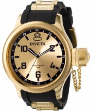 Invicta 1438 Mens Russian Diver Gold and Black Chronograph Watch