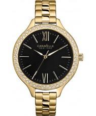 Caravelle New York Ladies Carla Gold Steel Bracelet Watch