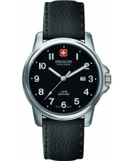 Swiss Military 6-4231-04-007 Mens Swiss Soldier Prime Black Leather Strap Watch
