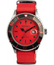 Kahuna Mens Red Fabric Strap Watch