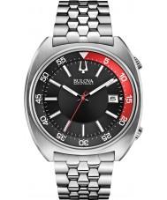 Bulova 96B210 Mens BA II Silver Steel Bracelet Watch