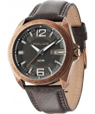 Police 14103JSQR-61 Mens Ranger II Brown Leather Strap Watch