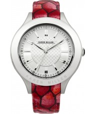 Karen Millen Ladies Red Leather Strap Watch