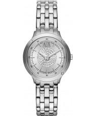 Armani Exchange AX5415 Ladies Silver Stone Set Watch