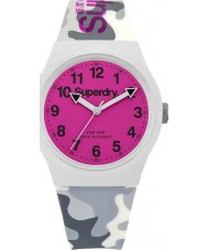 Superdry SYG164EP Urban Grey Camo Silicone Strap Watch