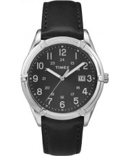 Timex TW2P76700 Mens Elevated Classic Sport Chic Black Leather Strap Watch