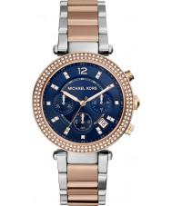 Michael Kors MK6141 Ladies Parker Two Tone Steel Chronograph Watch