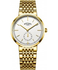 Rotary GB05062-02 Mens Timepieces Canterbury Gold Plated Bracelet Watch