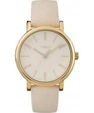 Timex TW2P96200 Ladies Originals Tonal Beige Leather Strap Watch