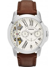 Fossil ME1144 Mens Grant Brown Leather Strap Watch