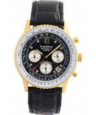 Krug-Baumen 400206DS Air Traveller Black Dial Black Strap