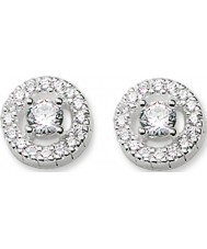 Thomas Sabo H1814-051-14 Ladies Light of Luna Zirconia Pave Silver Earrings