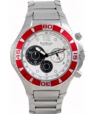 Krug-Baumen 140605KM Challenger Silver Dial Red Bezel Chronograph