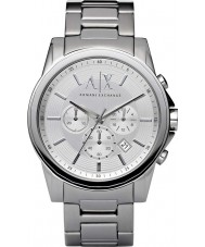 Armani Exchange AX2058 Mens Silver Steel Chronograph Dress Watch