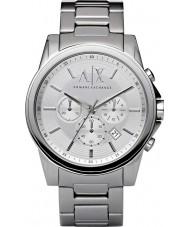 Armani Exchange AX2058 Mens Dress Silver Steel Chronograph Watch
