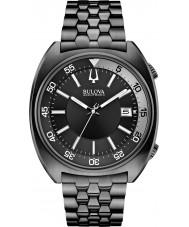 Bulova 98B219 Mens BA II Black Steel Bracelet Watch