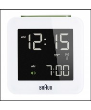 Braun Global Radio Controlled Alarm Clock  White