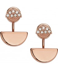 Fossil JF02224791 Ladies Fashion Rose Gold Plated Earrings