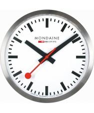 Mondaine A990-CLOCK-16SBB Silver Metal Wall Clock