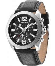 Police 14104JS-02 Mens Ranger II Black Leather Strap Watch