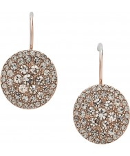 Fossil JF00135791 Ladies Vintage Glitz Rose Gold Steel Earring