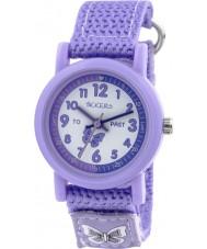 Tikkers TK0111 Girls Purple Nylon Strap Watch