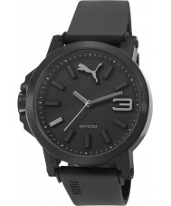 Puma PU103462015 Ultrasize 45 Black Plastic Strap Watch