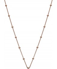 """Emozioni CH005 30"""" Rose Gold Plated Sterling Silver Intermittent Bead Chain"""