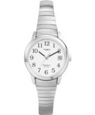 Timex T2H371 Ladies White Silver Easy Reader Watch