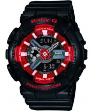 Casio BA-110SN-1AER Ladies Baby-G World Time Black Chronograph Watch