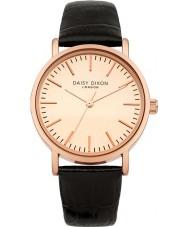 Daisy Dixon DD006BRG Ladies Georgia Black Leather Strap Watch