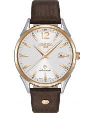 Roamer 550660-49-25-05 Mens Swiss Matic Brown Leather Strap Watch