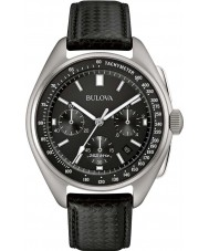 Bulova 96B251 Mens Special Edition Moon Black Leather Strap Watch