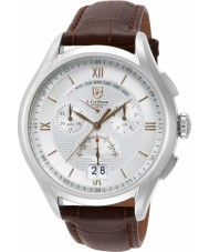 S Coifman SC0321 Mens Brown Leather Chronograph Watch